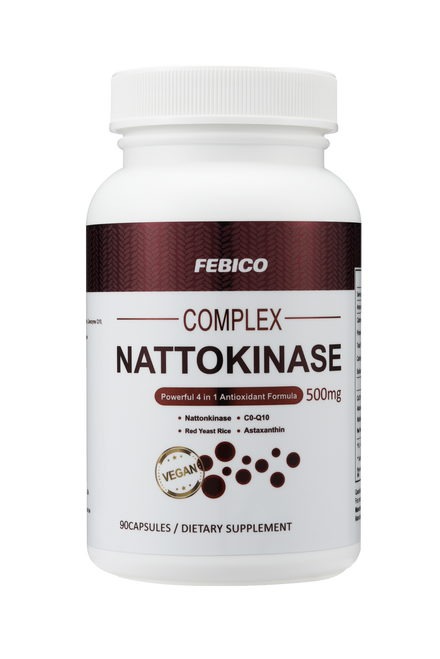 20% off! Buy 1 FEBICO Natto Complex - Nattokinase 4 in 1 - 90 capsules, Get  1 Free Organic Chlorella tablet!