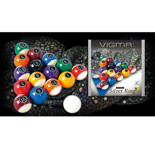 Vigma 2 1/4-In. Silver Ring Billiard Ball Set