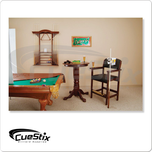 Deluxe 8 Cue Wall Rack