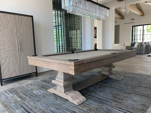 Beaumont Pool Table | 8 foot | Silvered Oak | Plank and Hide | P&H | SKU #11043