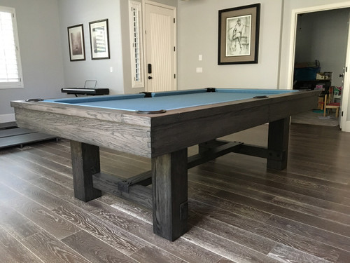 Rustic 8ft Pool Table –  Custom finished – Gauntlet Gray