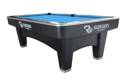 Innovator Pool Table – Innovator Billiard Table by Rasson 9' - 9ft - 9 Foot – Black & Silver - RAS-INN09BS - 691037436773 - 0029-960