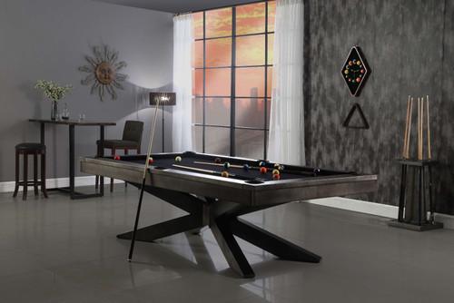 Felix Steel Pool Table | 8 foot | Gun Metal Grey | Plank and Hide | P&H | SKU #28005-Gun