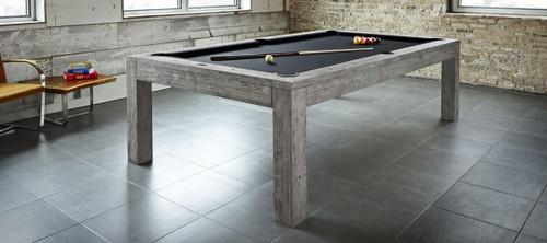 Sanibel Pool Table | 8 Foot | Rustic Grey Finish | Dining Top Available | Brunswick
