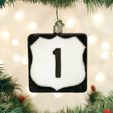 Route 1 Highway Marker ornament