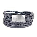 Bonacci Leather Bracelet - black