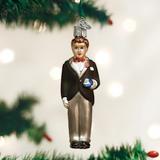Groom (brunette) ornament