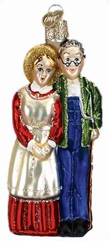 Farm Couple ornament