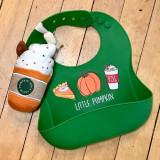 Little Pumpkin Silicon Bib & Rattle Set