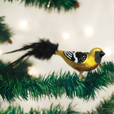 Hooded Oriole ornament clip-on