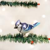 Bright Blue Jay ornament (clip-on)