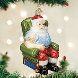 Santa Vaccinated ornament