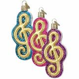 Treble Clef ornament (assorted colors)