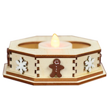 Ginger Cottages - Snowflake Tealight Display (small)