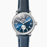 Shinola Runwell Midnight Blue dial Sub Second 41mm Ocean Leather Strap