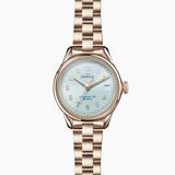 Shinola Vinton 3HD 32mm Chambray Blue dial Champage bracelet