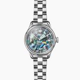 Shinola Vinton 3HD 32mm Abalone dial silver bracelet