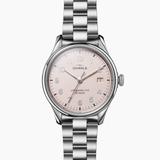 Shinola Vinton 3HD Light Pink dial 38mm Silver Bracelet