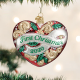 2020 First Christmas Heart ornament