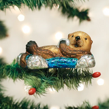Floating Sea Otter ornament