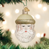 Crystal Santa ornament