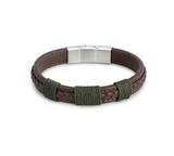 Journey Men'sBrown Leather Adjustable Bracelet