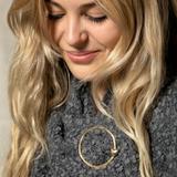 Gold Circle Heart Giving Pin