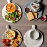 Soup & Sandwich Plate -light grey