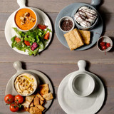 Soup & Sandwich Plate - dark grey
