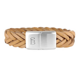 Preston Leather Bracelet -tan