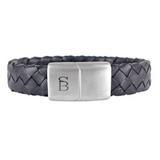 Preston Leather Bracelet Matte Black
