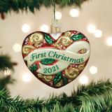 2021 First Christmas Heart ornament