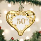 50th Anniversary Heart Ornament