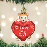 I Love My Cat ornament