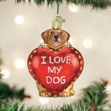I Love My Dog Heart Ornament