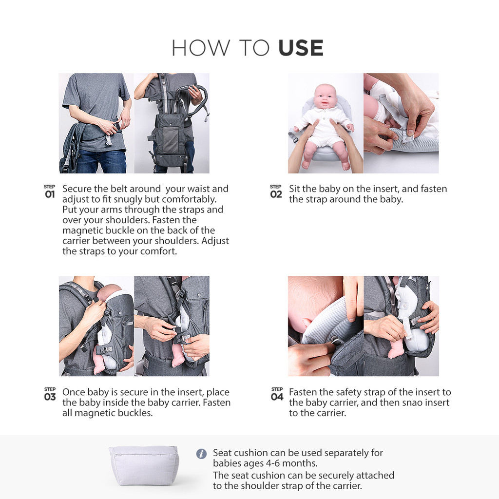 One Touch Magnetic Lightweight Baby and Toddler Carrier - Infant Insert