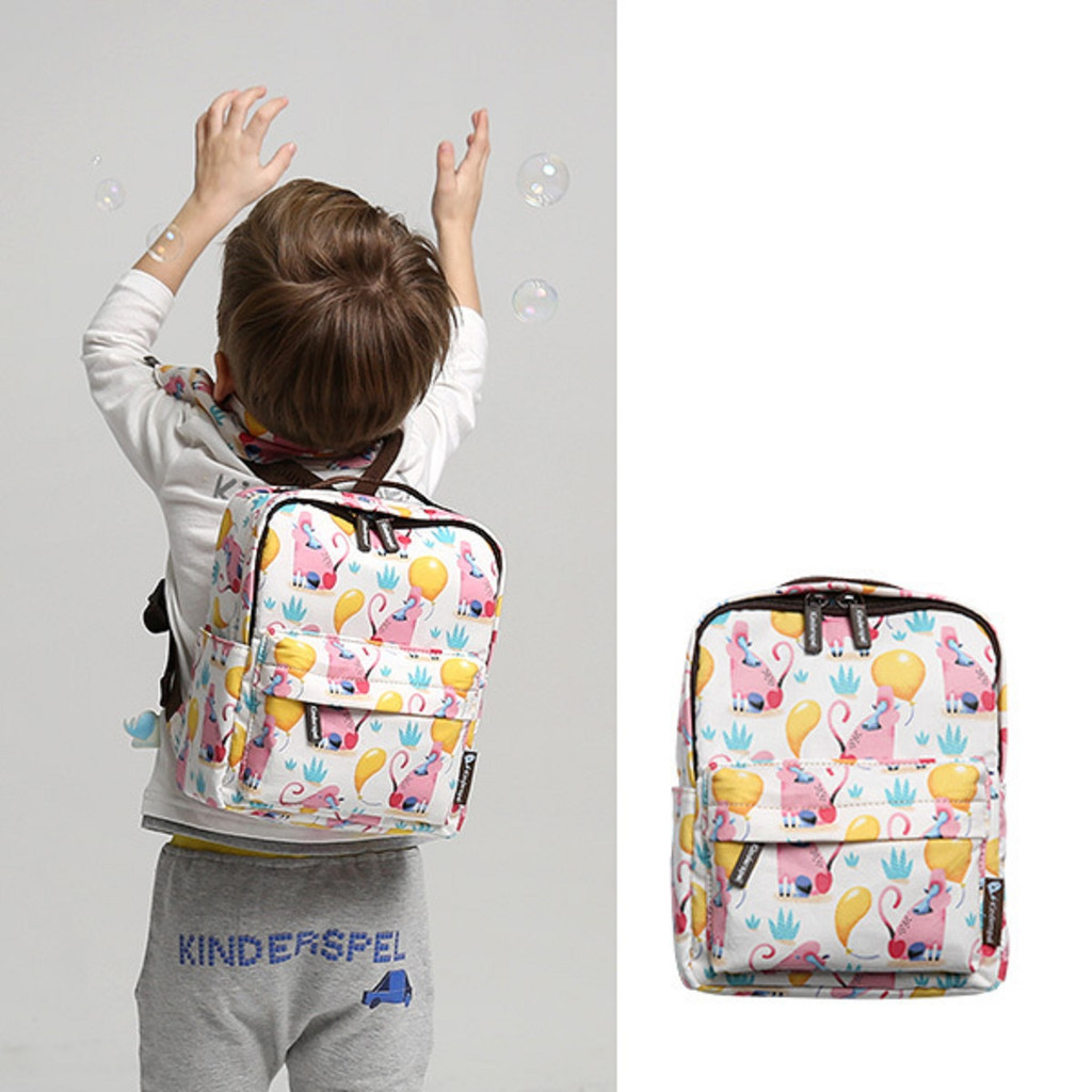 KINDERSPEL ALL-IN-ONE INSULATED BACKPACK WITH TETHER, FOR KIDS AND TODDLERS (COTTON)