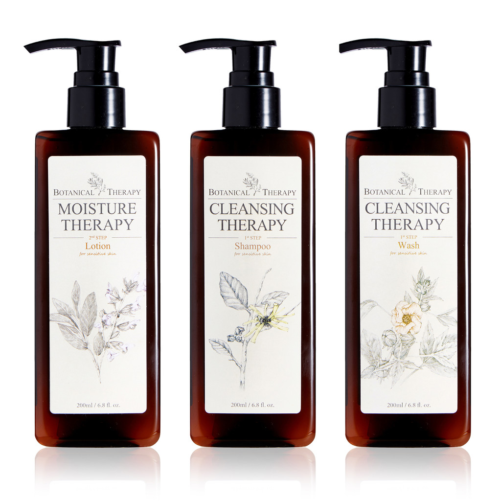 Botanical Therapy Gift Set - Shampoo, Body Lotion, and Body Wash for babies and toddlers.