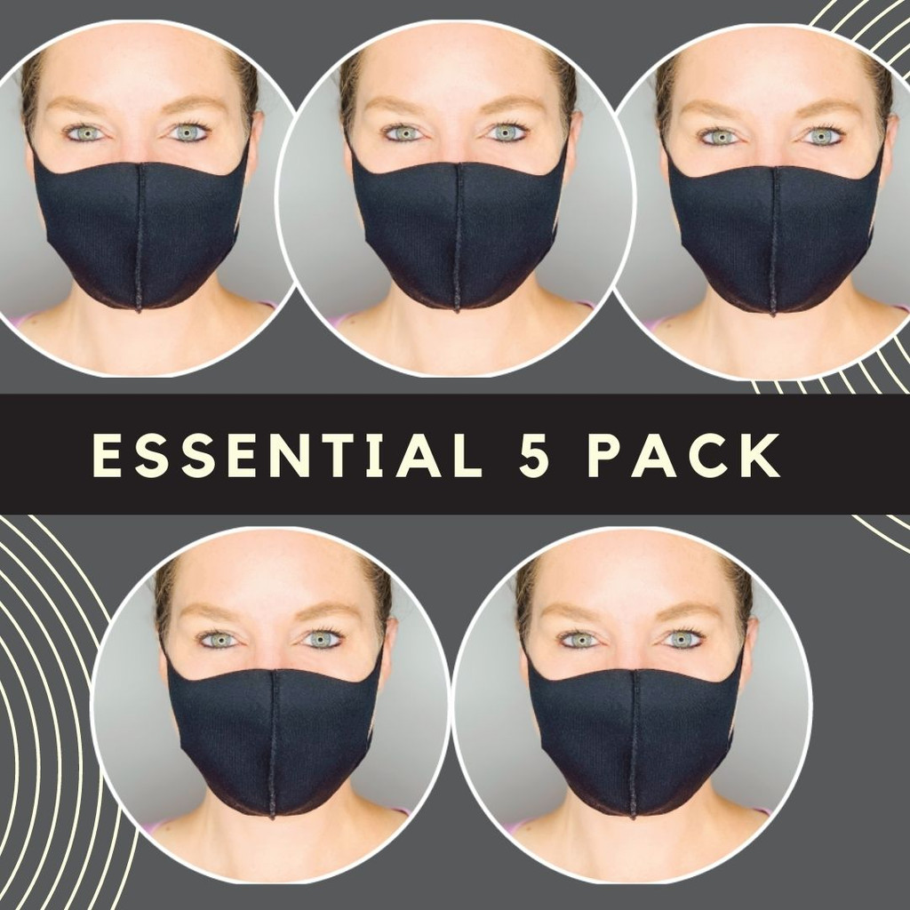 ADULT MASKS / ANTIMICROBIAL / 5 PACK VALUE SET
