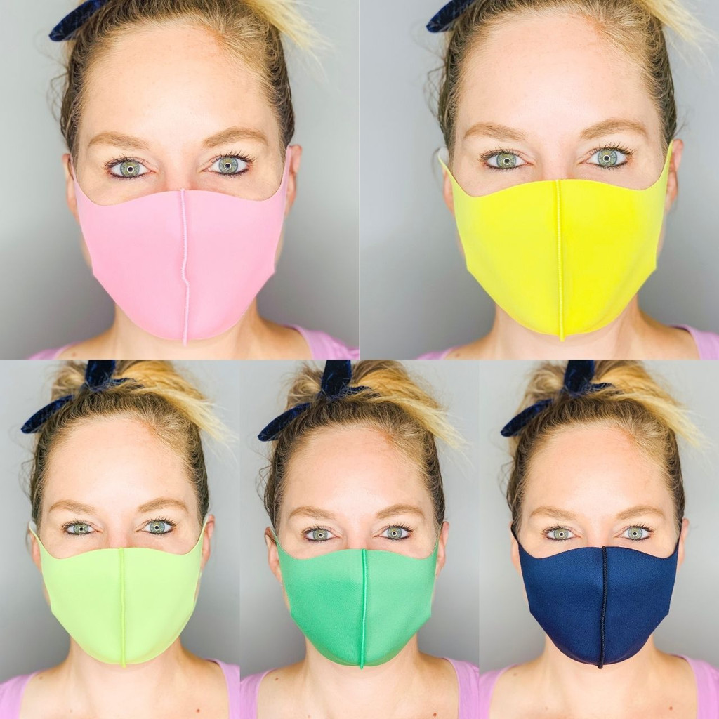 ADULT MASKS / ANTIMICROBIAL / 5 PACK VALUE SET / MULTI COLOR