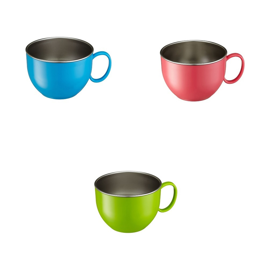 Din Din Smart Stainless Dinner Bowl (MULTIPLE COLORS)