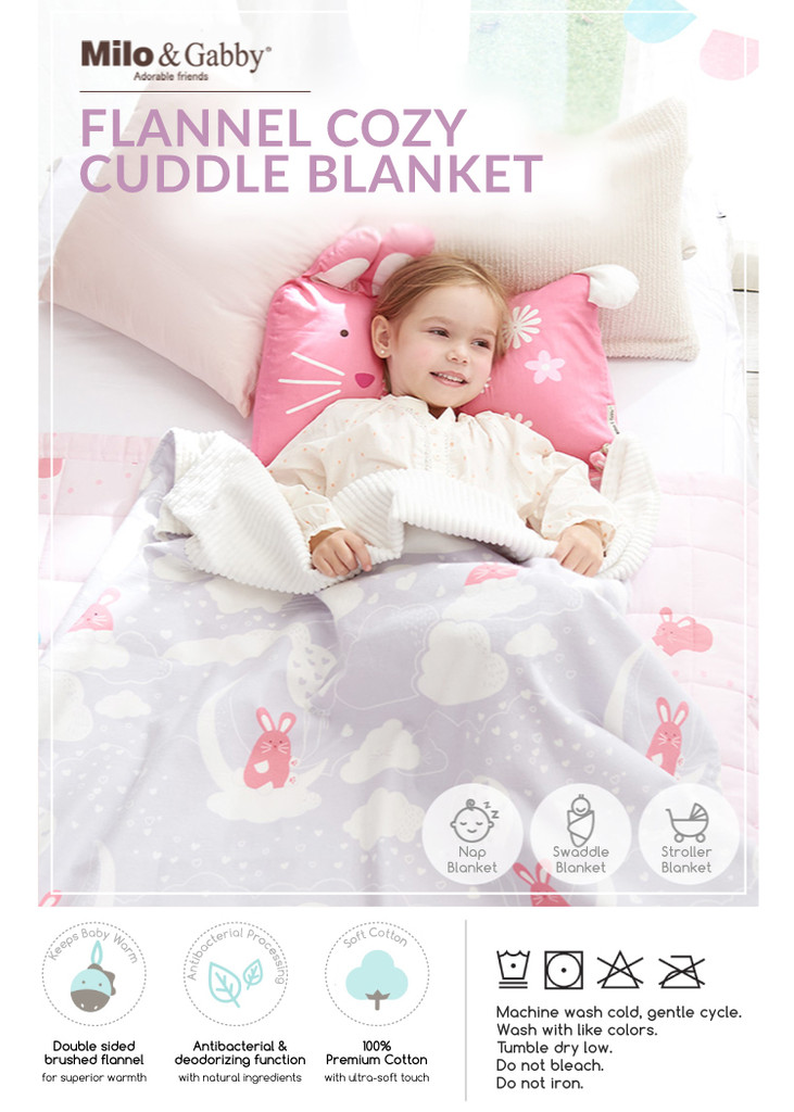 Flannel Cotton Double-Sided Cozy Blanket