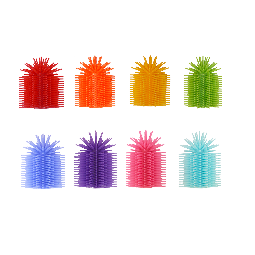 SILICONE FIDGET TACTILE PENCIL TOPPER (PARTY PACK 24 COUNT )(ASSORTED COLORS)