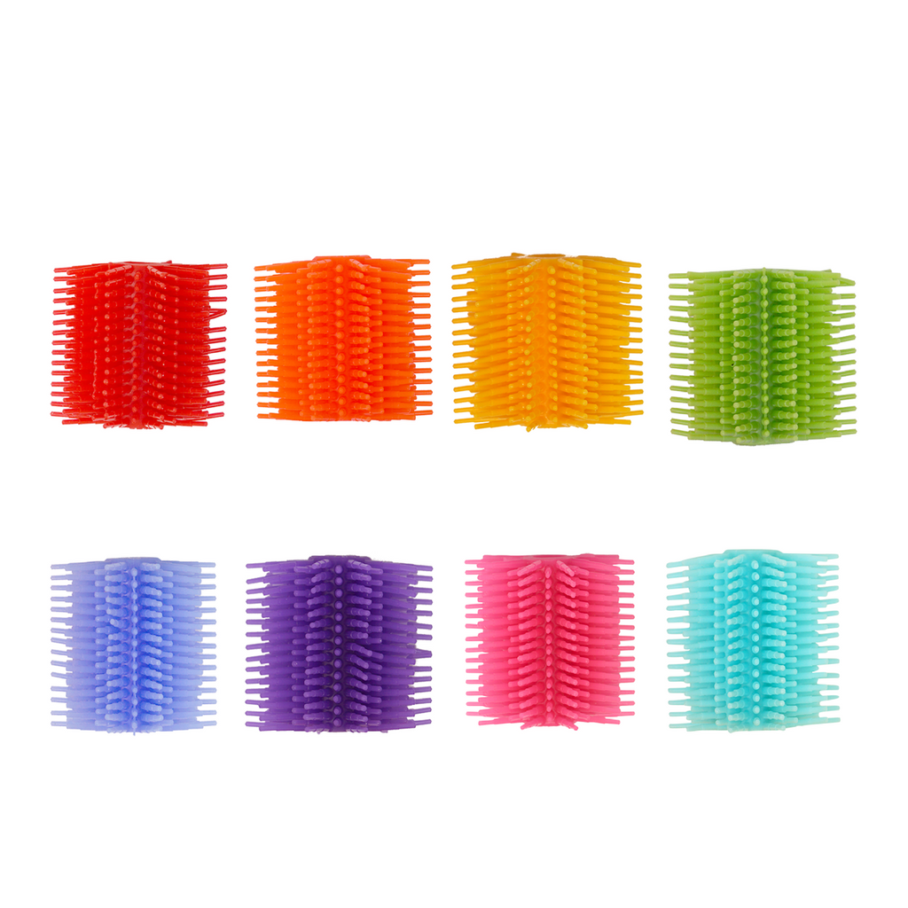 SILICONE FIDGET TACTILE PENCIL GRIP (PARTY PACK 8 COUNT) (ASSORTED COLORS)