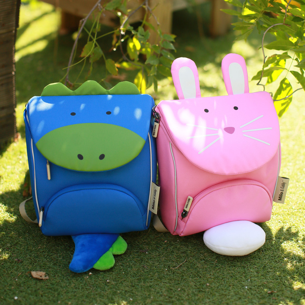 Milo & Gabby Animal Shaped Backpack with Safety Strap (Lola, Dylan, Tom)