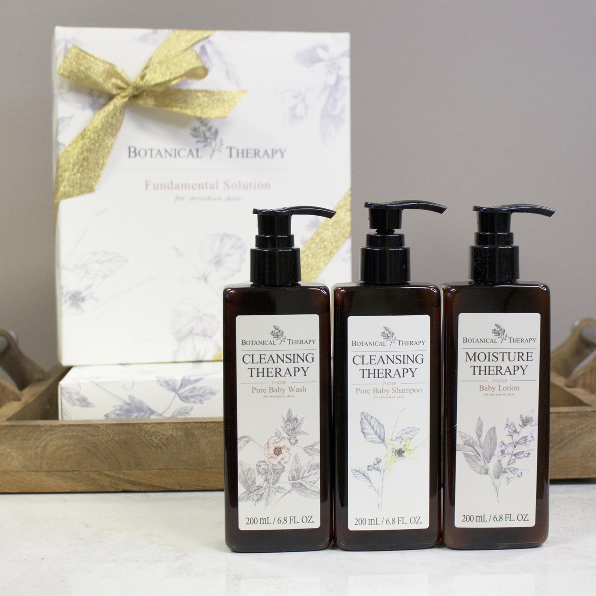 Botanical Therapy Gift Set Shampoo Body Lotion And Body Wash For Babies And Toddlers