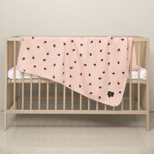 """Organic Cotton 2-ply Knit Cuddle Blanket for babies and toddlers 41"""" x 41"""" ( Various Patterns)"""