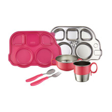 Din Din SMART Stainless Mealtime Set (Various Colors)