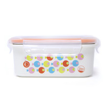 Keepin' Fresh Stainless Bento Snack or Lunch Box with Lid for Kids and Toddlers 15 oz - Fish