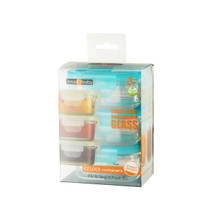 Preppin' SMART EZ Lock Glass Container - 3 Pack / Rectangle